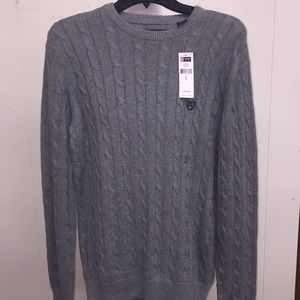 Men's Small Sweater Gray NWT chaps